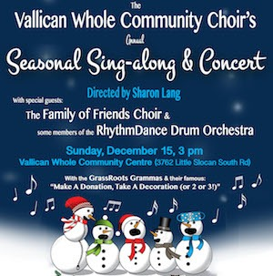 Vallican Whole Community Choir Seasonal Sing-along