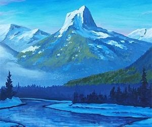 A look into Bryn Stevenson's Majestic Mountain Paintings