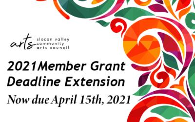Member Grant Deadline extension!